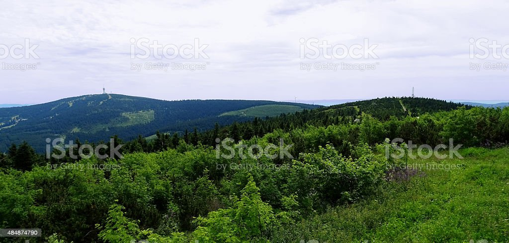 Overlooking the Ore Mountains stock photo