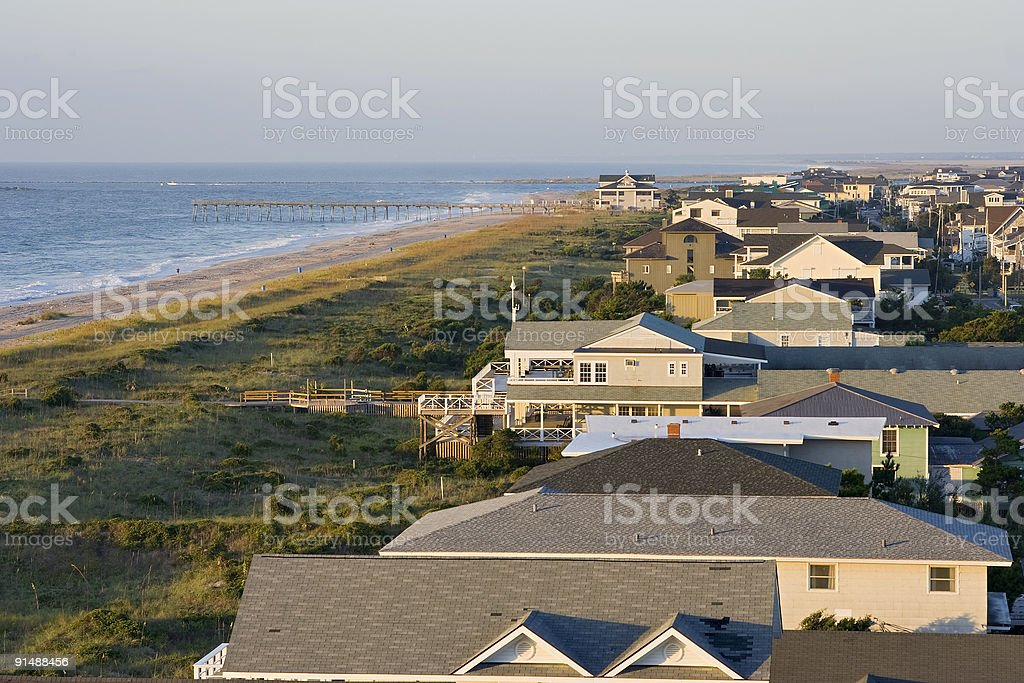 Overlooking Wrightville Beach stock photo