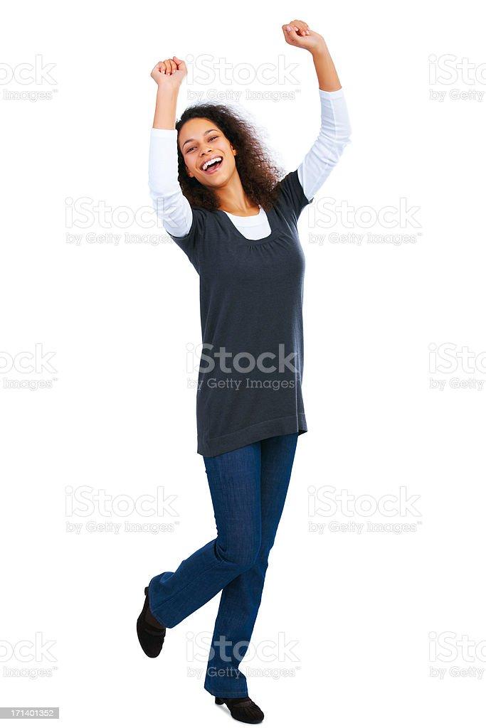 Overly happy girl royalty-free stock photo