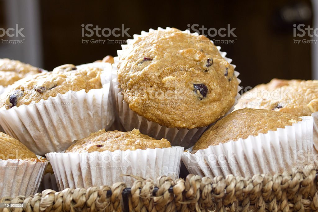 Overnight oatmeal muffins royalty-free stock photo