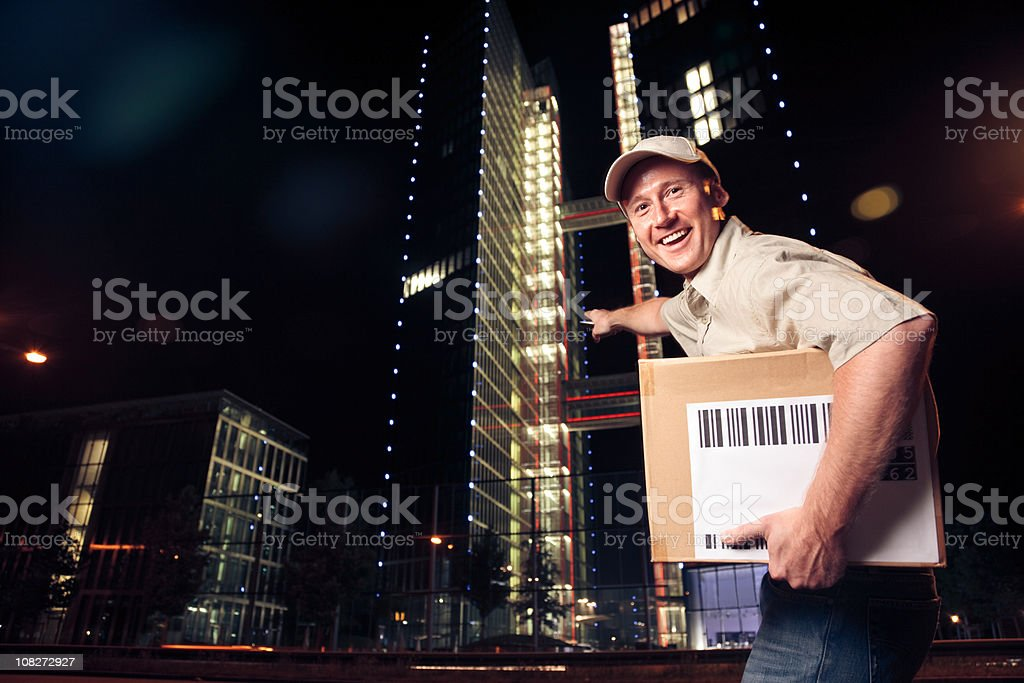 overnight parcel delivery (series) royalty-free stock photo