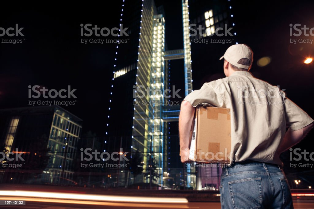 overnight parcel delivery (series) stock photo