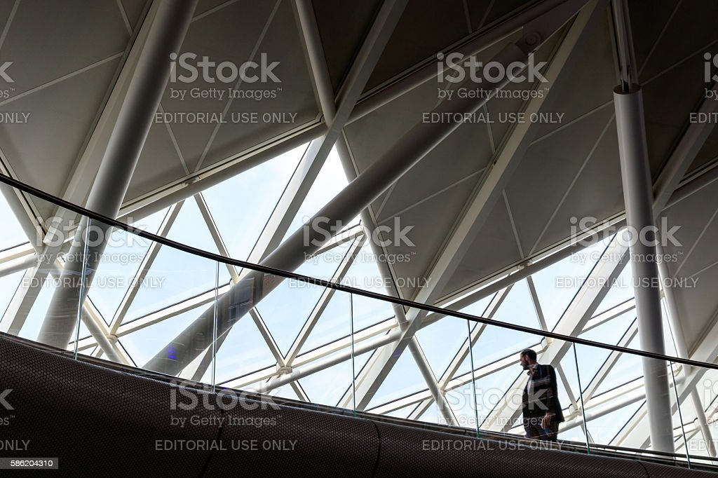 Overpass and Ceiling at Kings Cross Station stock photo