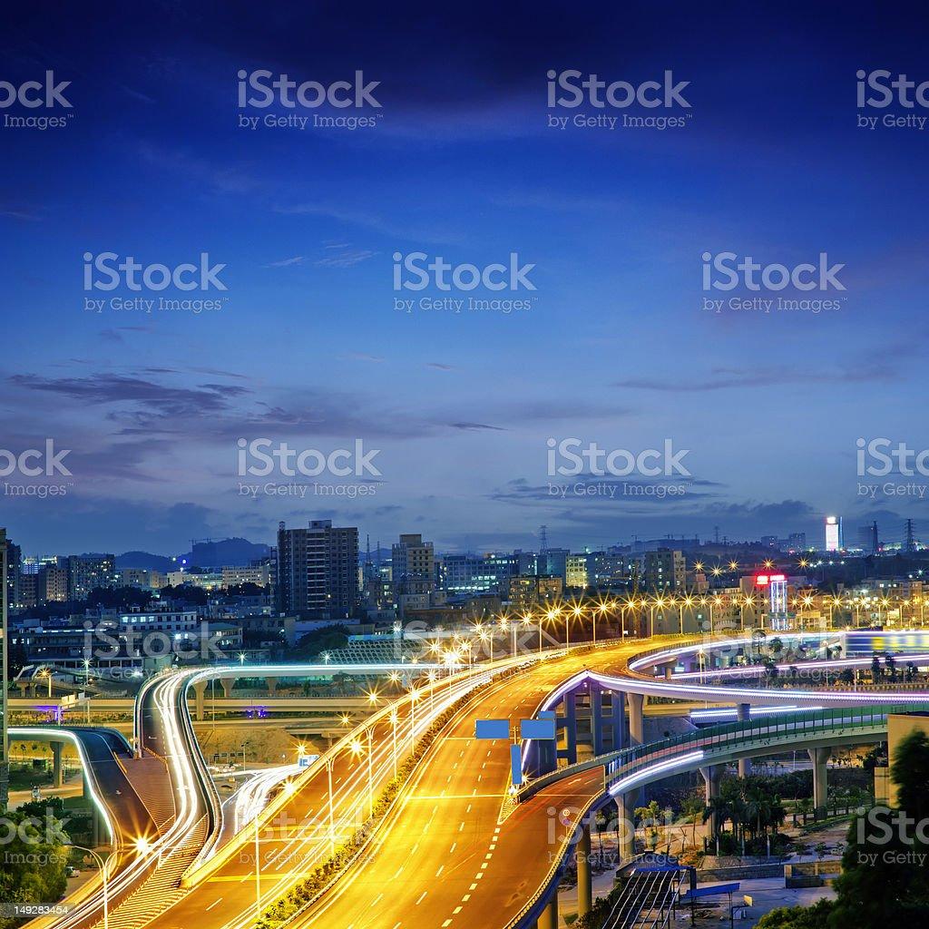Overpass bridge royalty-free stock photo