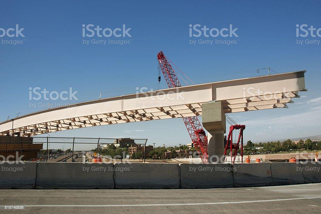 Overpass Freeway Construction stock photo