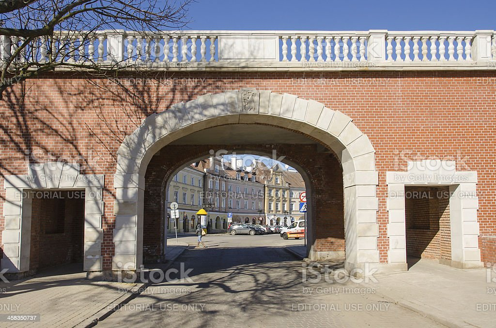 Overpass near Plac Zamkowy (Castle square) in Lublin, Poland royalty-free stock photo