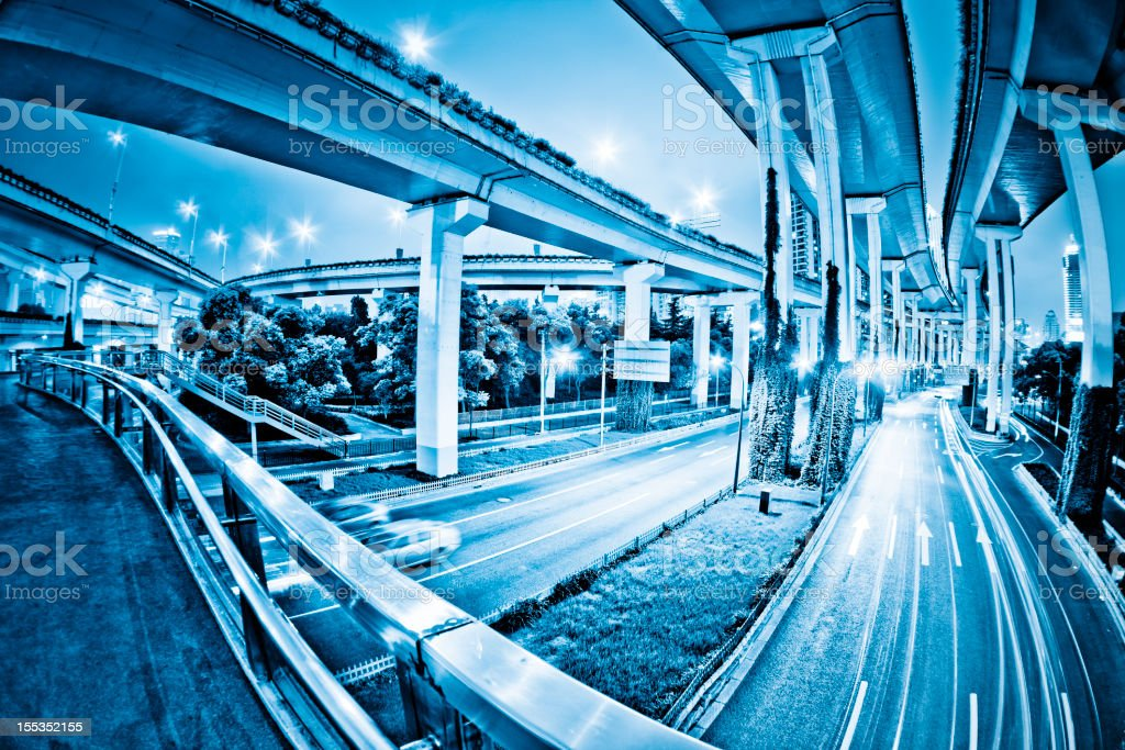 overpass of shanghai royalty-free stock photo