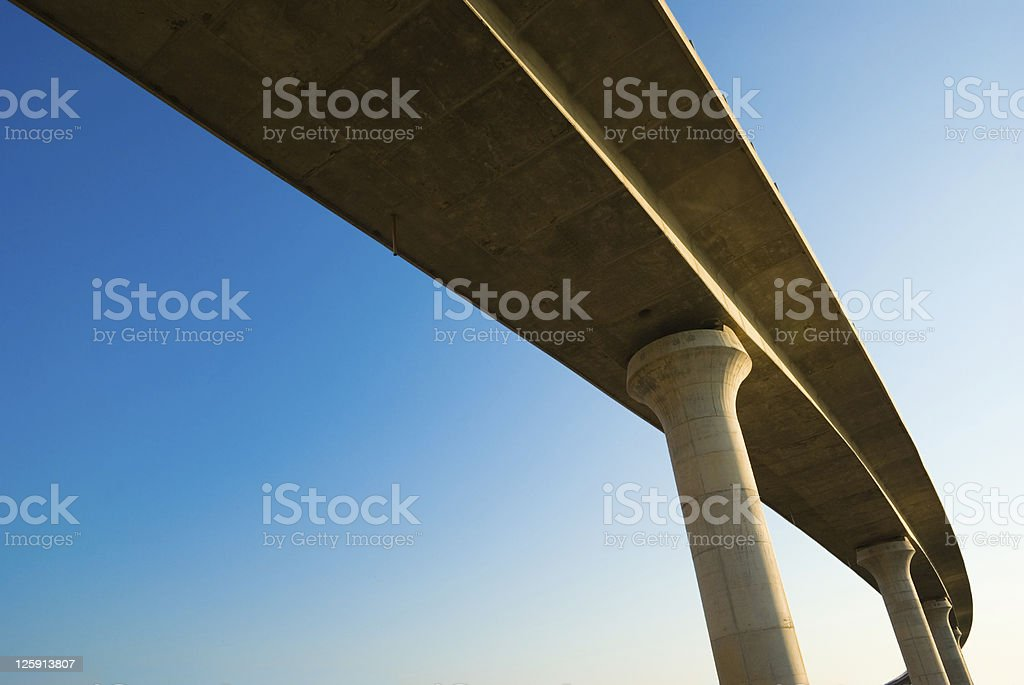 overpass on background of blue sky royalty-free stock photo