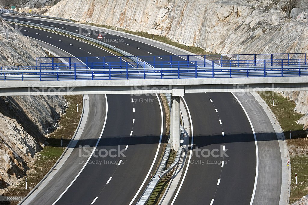 Overpass on highway royalty-free stock photo