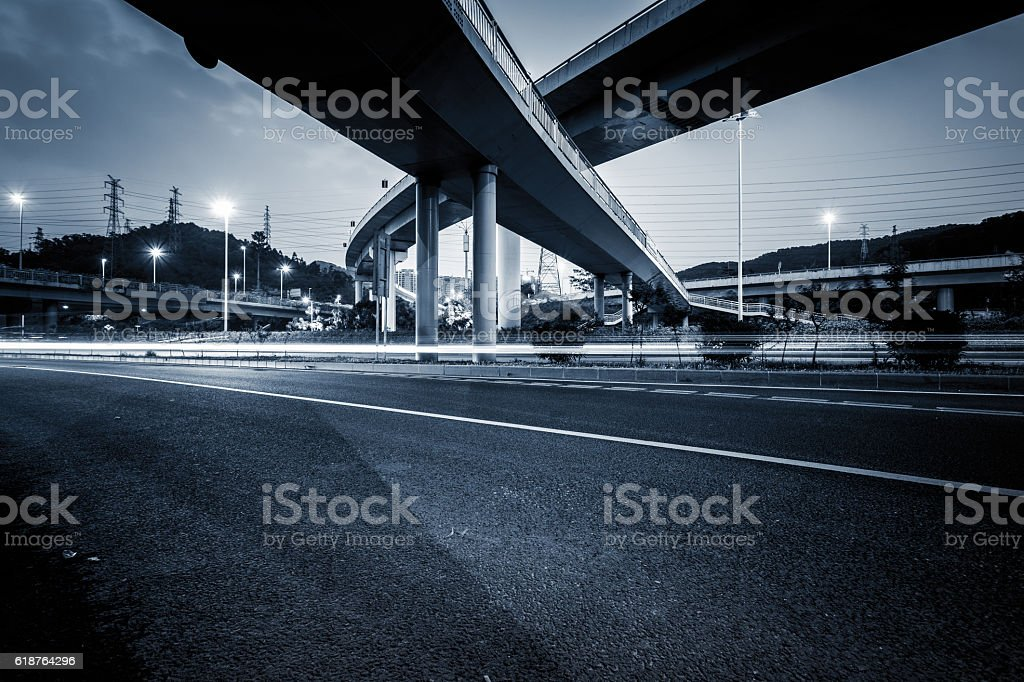overpass traffic stock photo