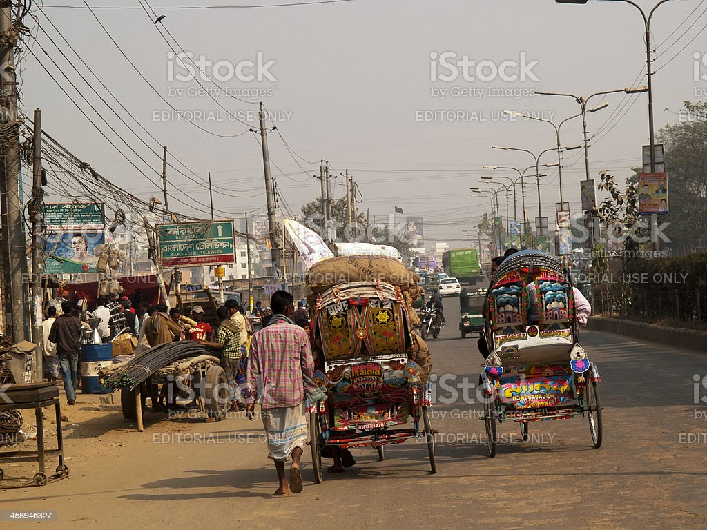 Overpopulation blamed for poverty and food crisis in Bangladesh Dhaka royalty-free stock photo