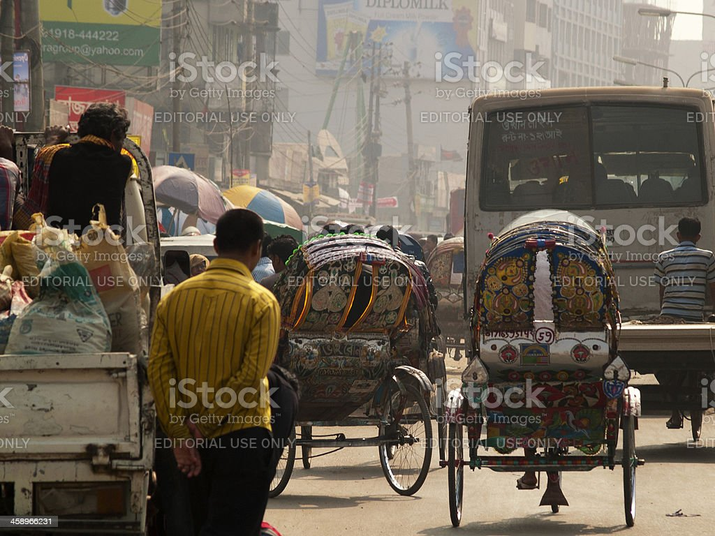 Overpopulation blamed for poverty and food crisis in Bangladesh Dhaka stock photo