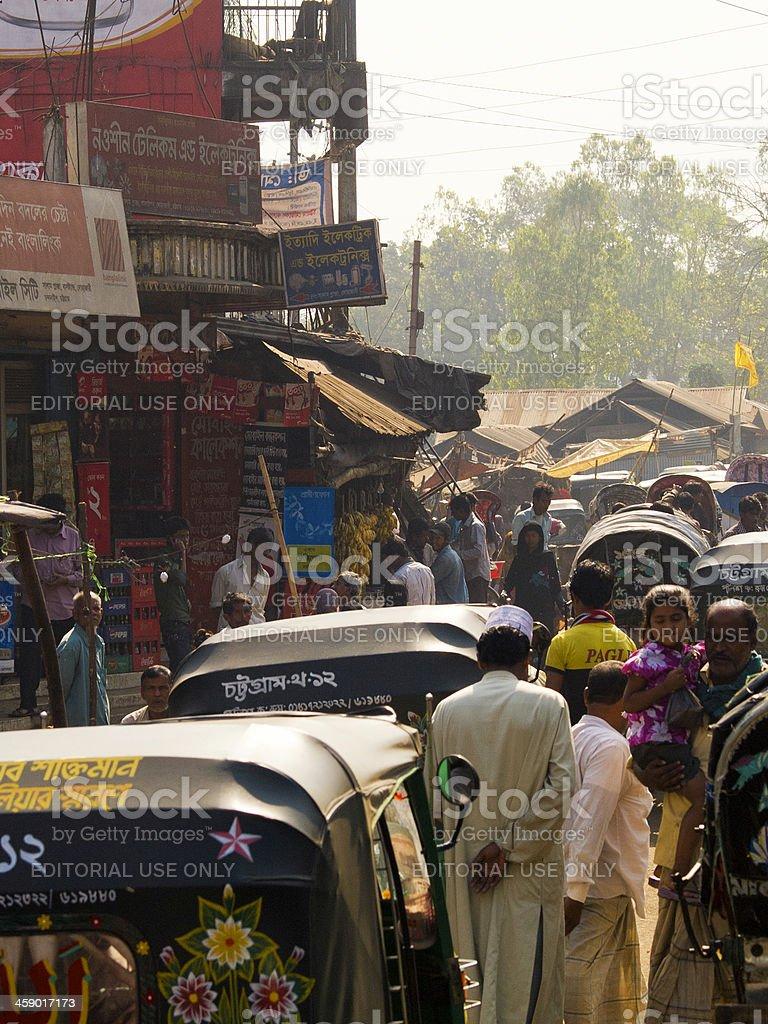Overpopulation crisis in Bangladesh royalty-free stock photo