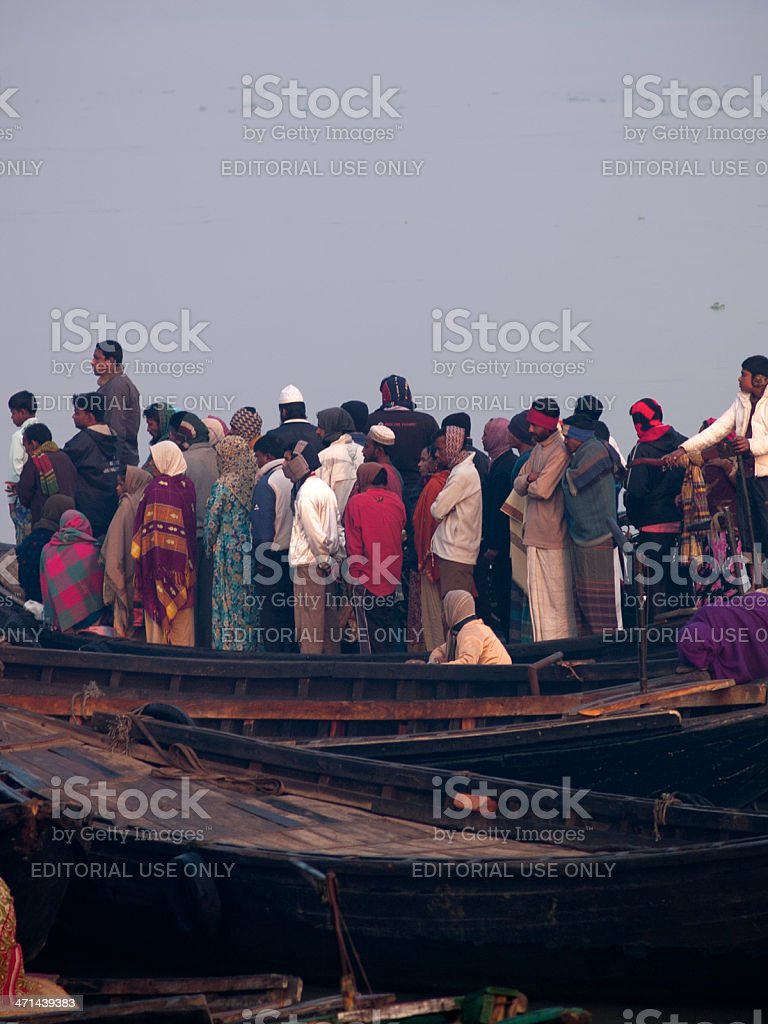 Overpopulation problem in Bangladesh stock photo