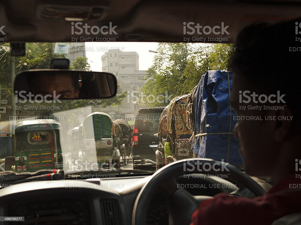 Overpopulation problem in Dhaka capital city of Bangladesh stock photo