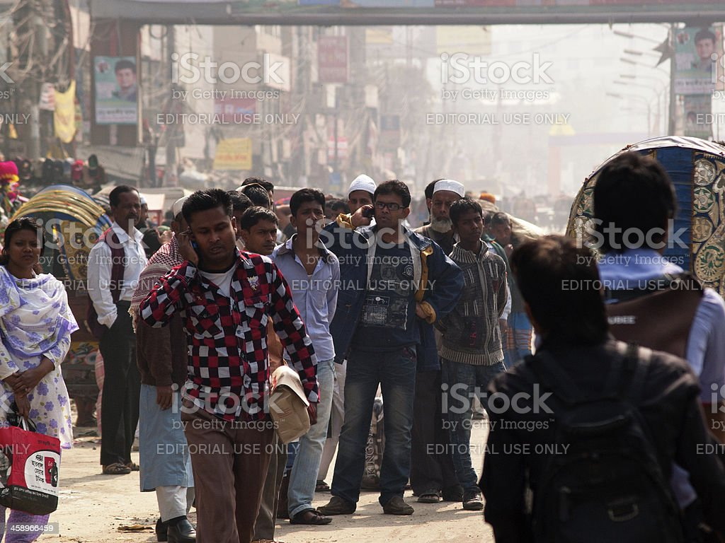 Overpopulation problem in Dhaka city Bangladesh capital stock photo