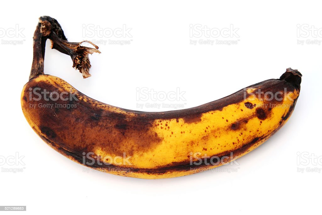 Overripe banana stock photo