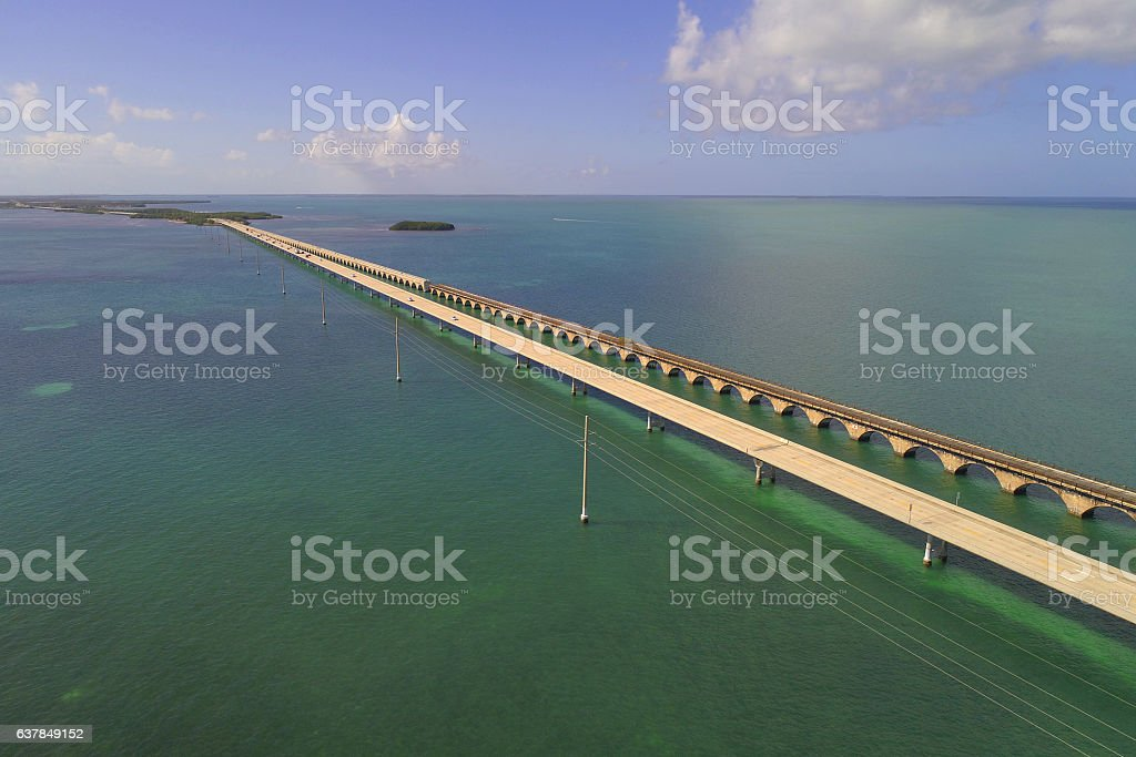Overseas Highway Florida stock photo