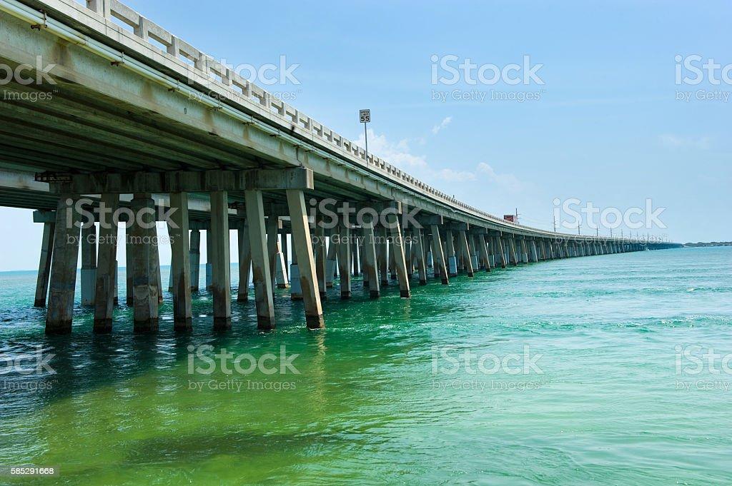 Overseas highway in Florida stock photo