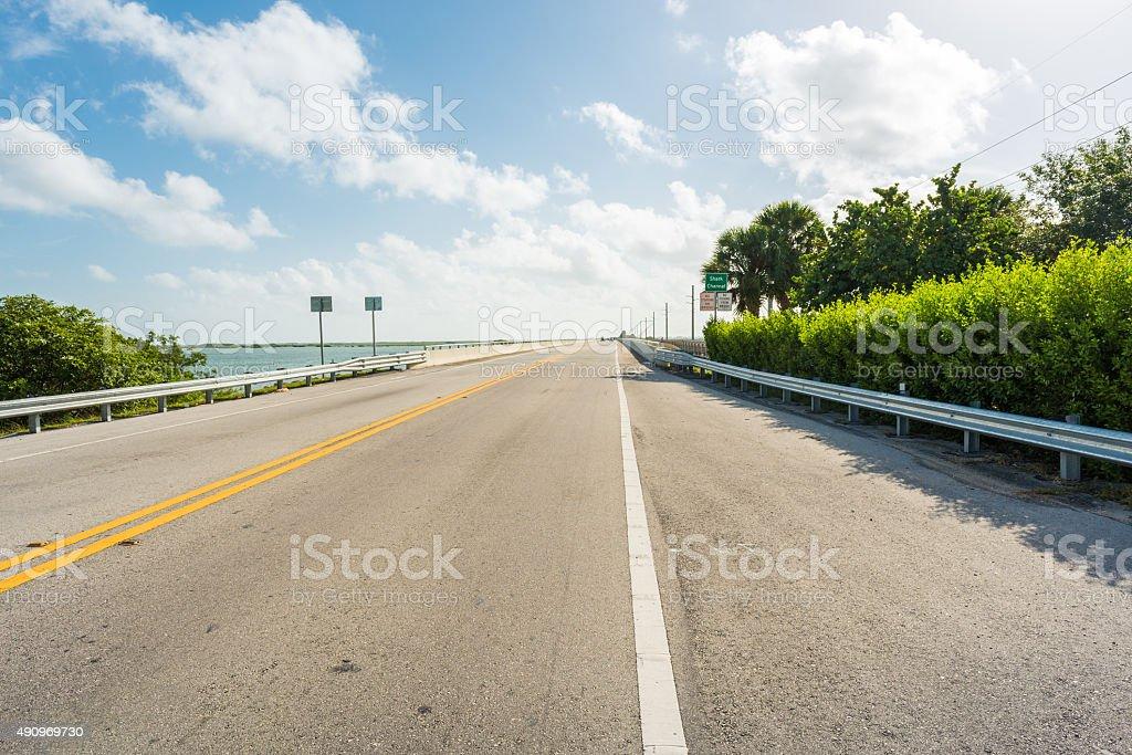 overseas highway to the Florida Keys stock photo