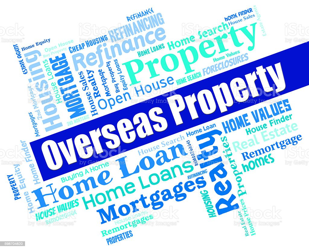 Overseas Property Indicates Worldwide Apartments And Offices stock photo