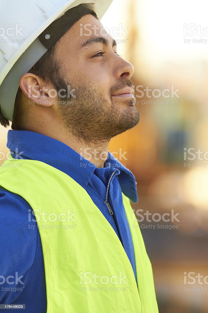 Overseeing the construction royalty-free stock photo