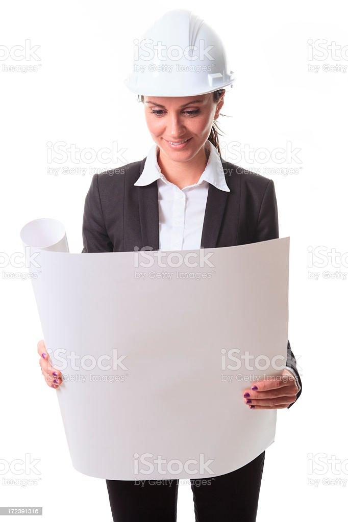 Overseer Woman- Vertical Scheme royalty-free stock photo