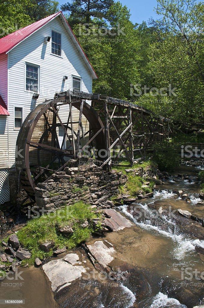 Overshot Water Wheel stock photo