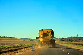 Oversize Farm Machinery on Country Road