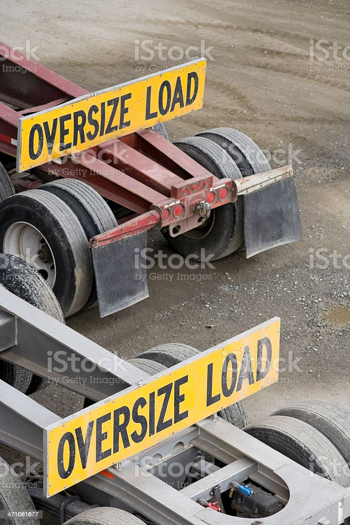 Oversize load on flatbed truck royalty-free stock photo