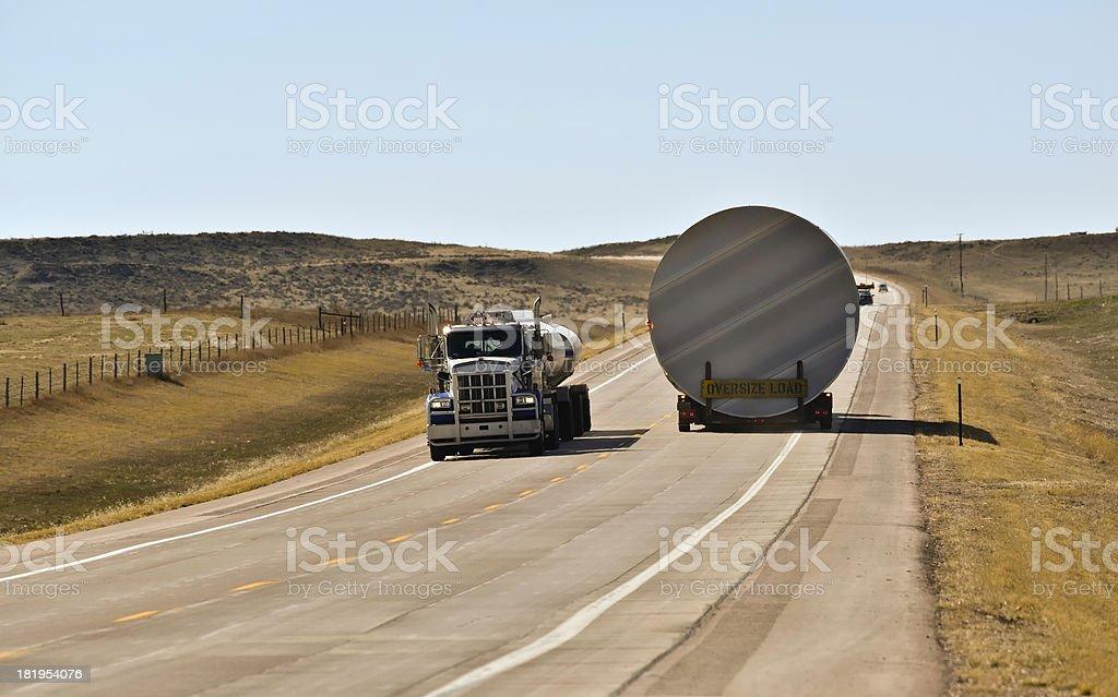 Oversize Load stock photo