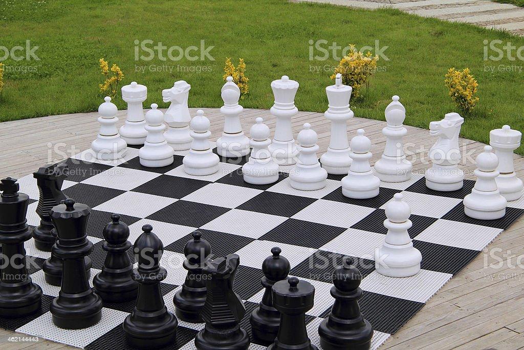 Oversized Chess Board stock photo