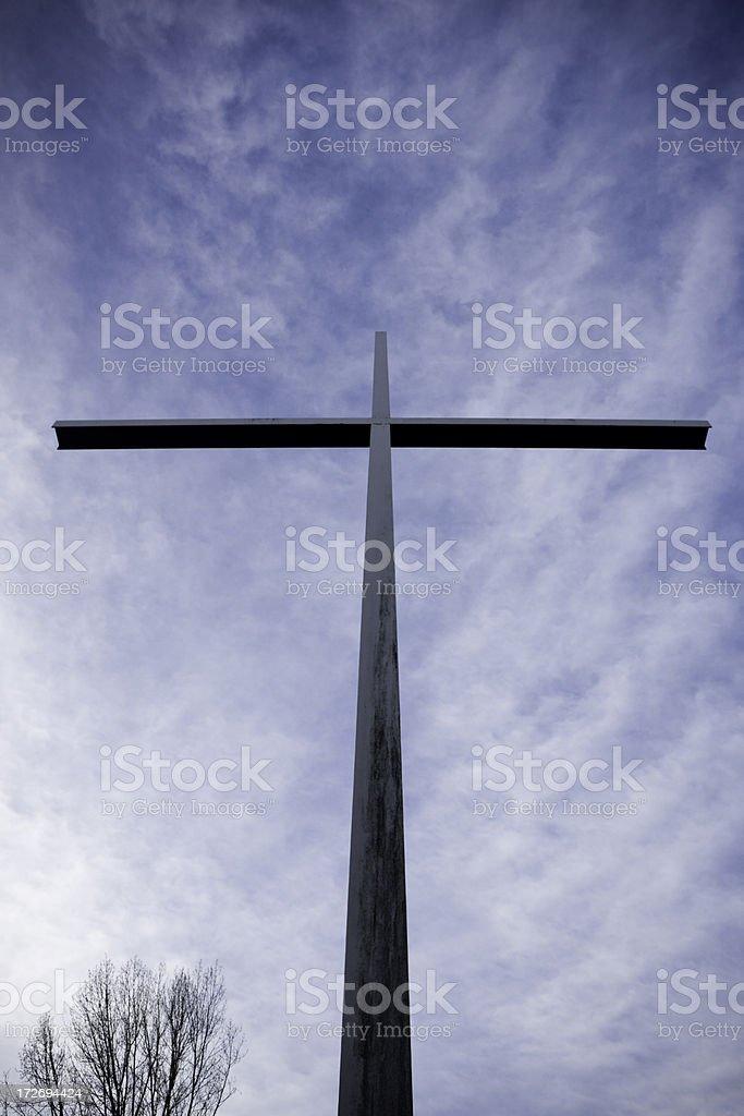Oversized Cross stock photo