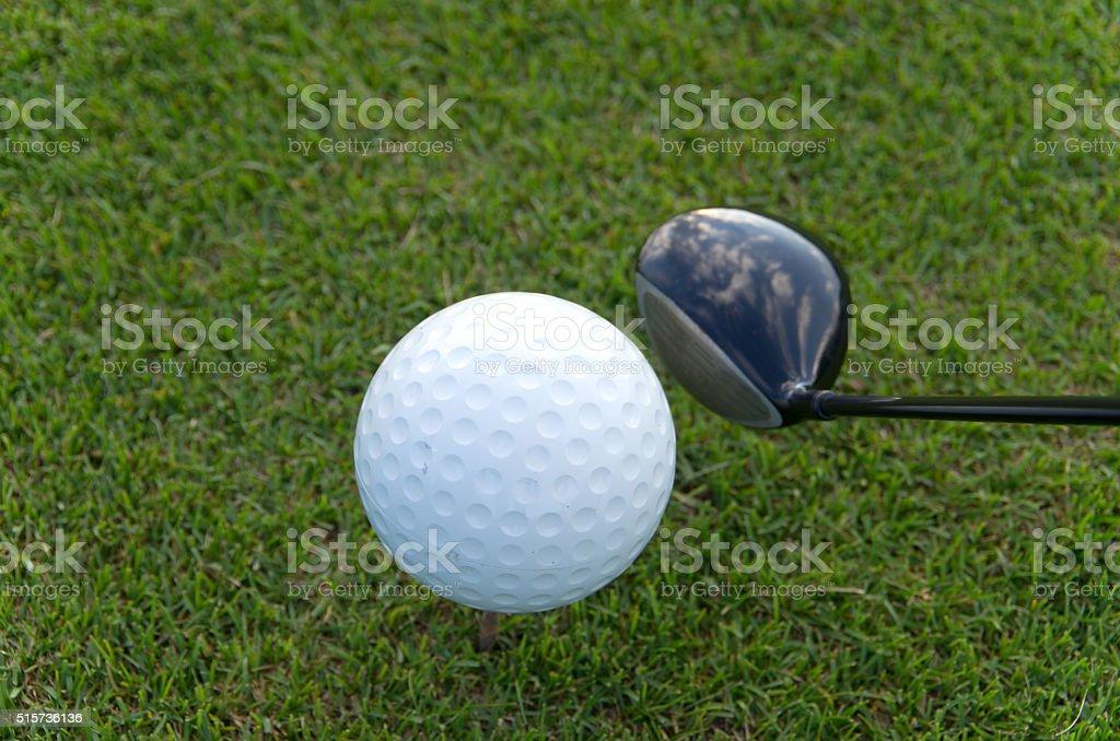 Oversized Golf Ball stock photo