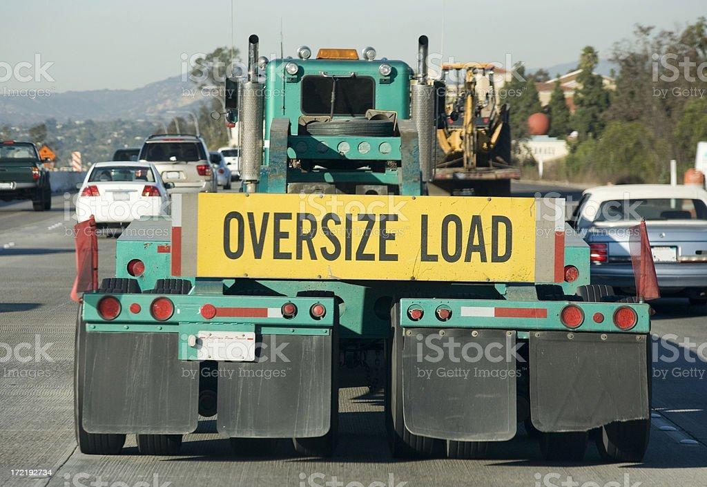 oversized load stock photo