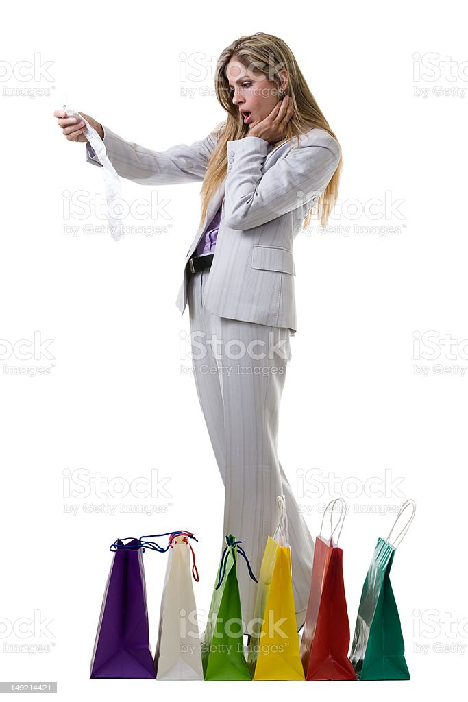 Overspending royalty-free stock photo