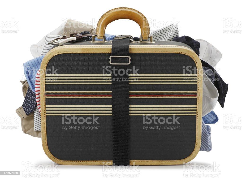 Overstuffed Luggage royalty-free stock photo