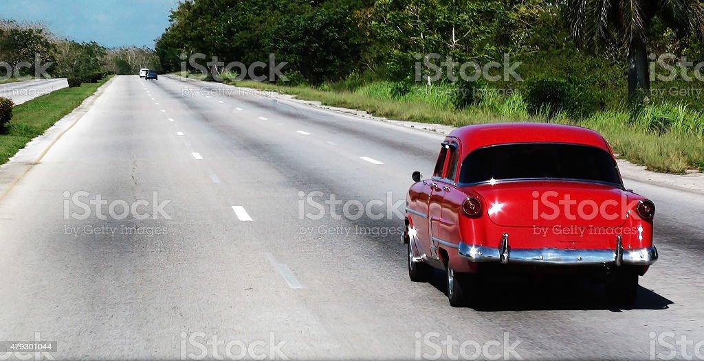 Overtaking On The Highway stock photo