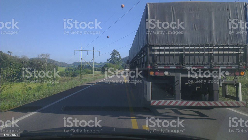 Overtaking Truck royalty-free stock photo