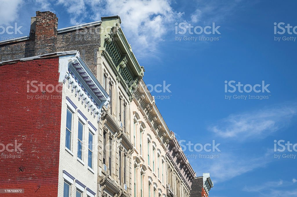 Over-the-Rhine Historical Buildings stock photo
