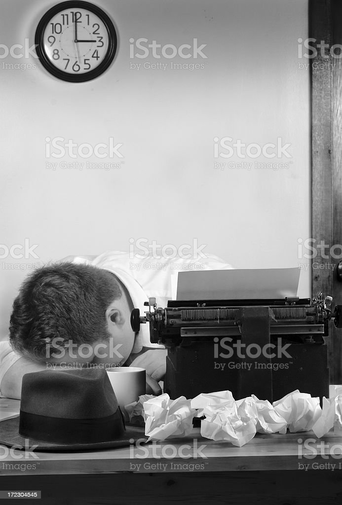 Overtime circa 1940 royalty-free stock photo