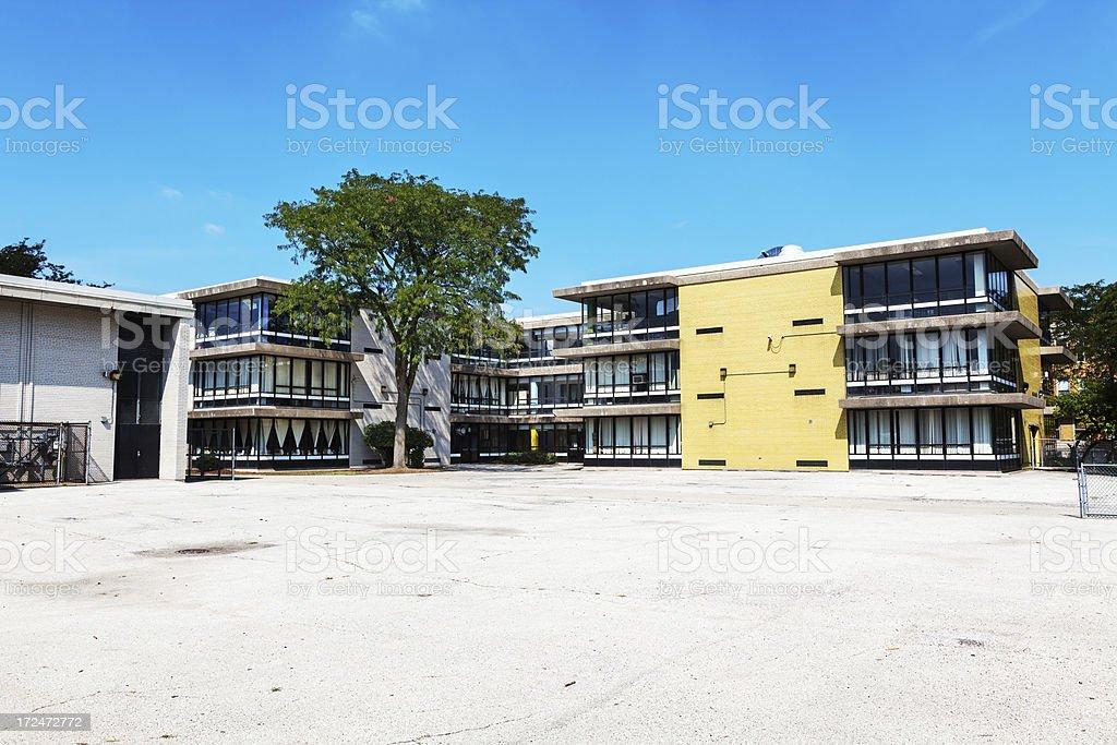 Overton Elementary School, Grand Boulevard, Chicago stock photo