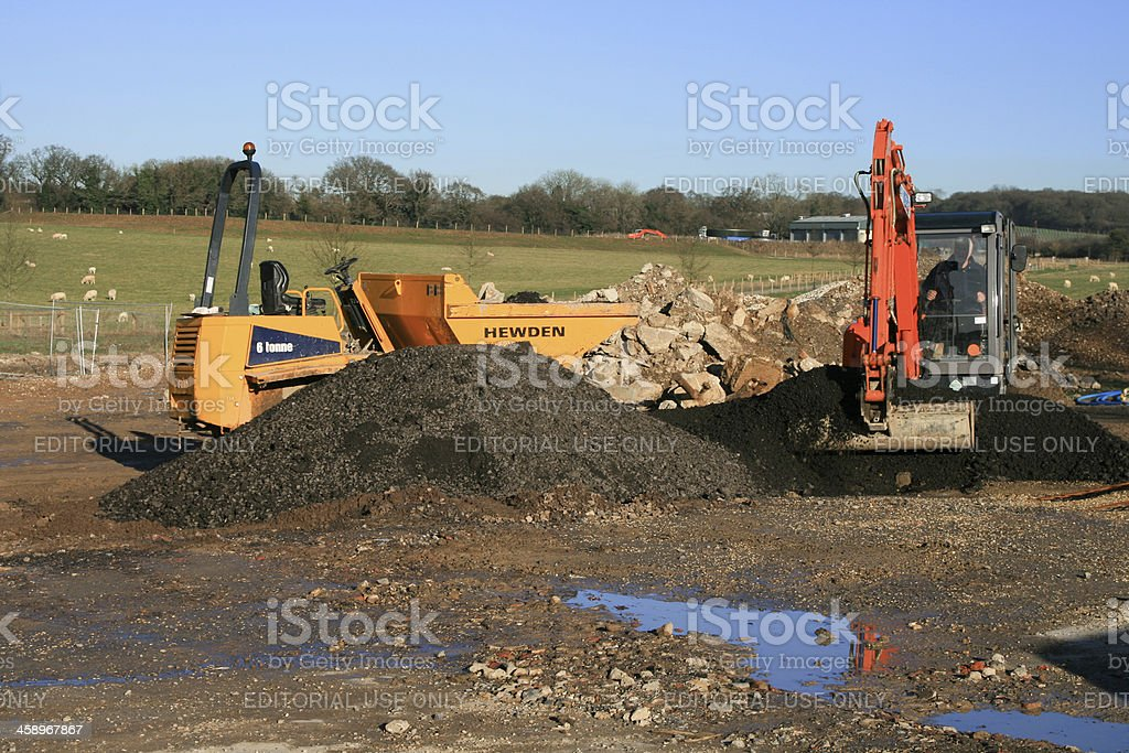 Overton in Hampshire, England royalty-free stock photo
