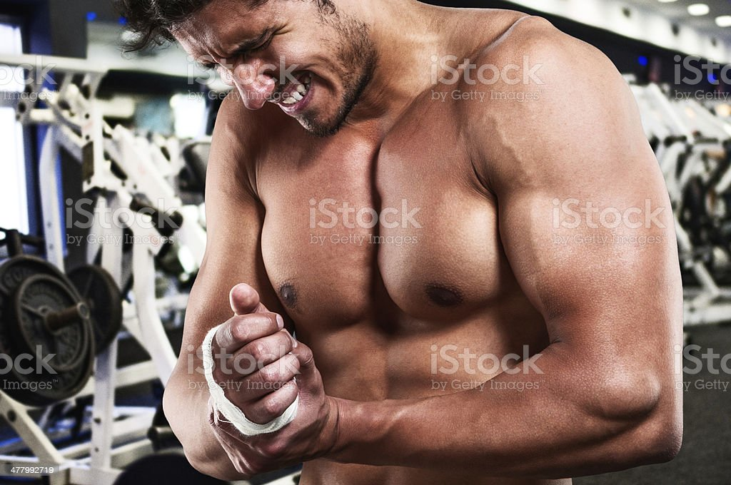 Overtraining injury stock photo