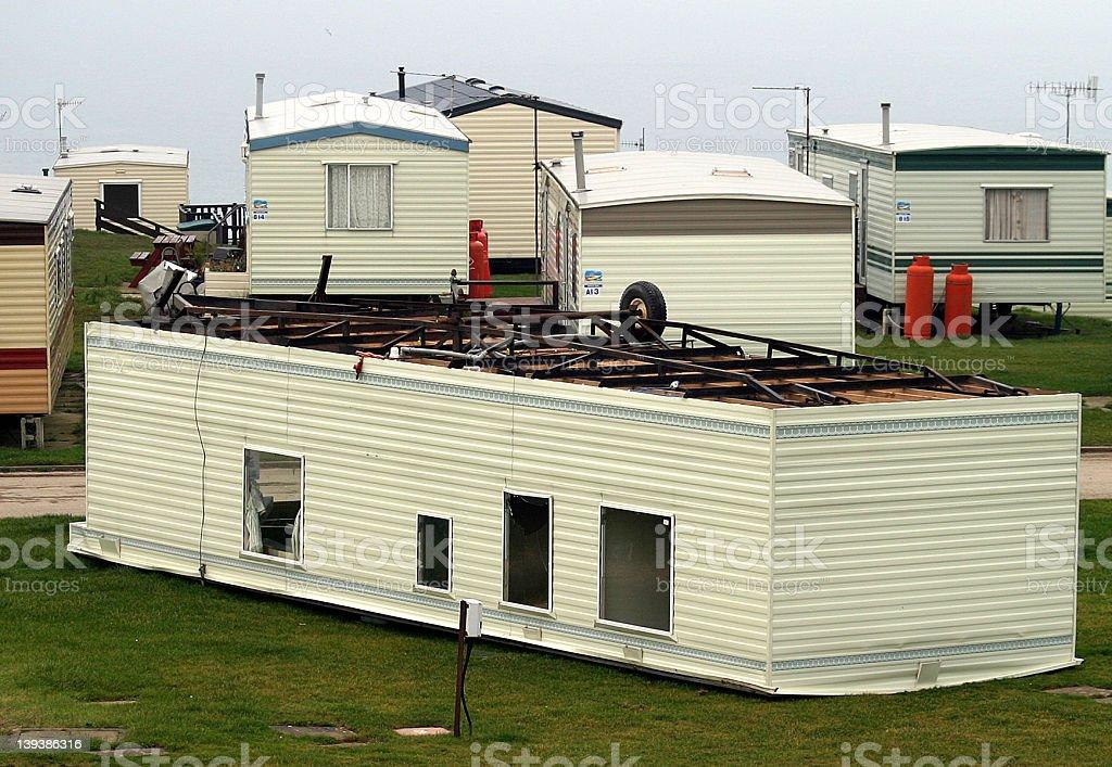 Overturned Caravan royalty-free stock photo