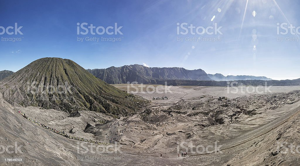 Overview from Mount Bromo stock photo