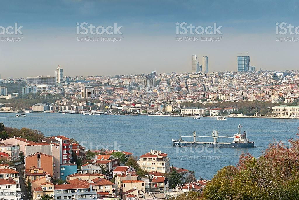Overview Istambul royalty-free stock photo