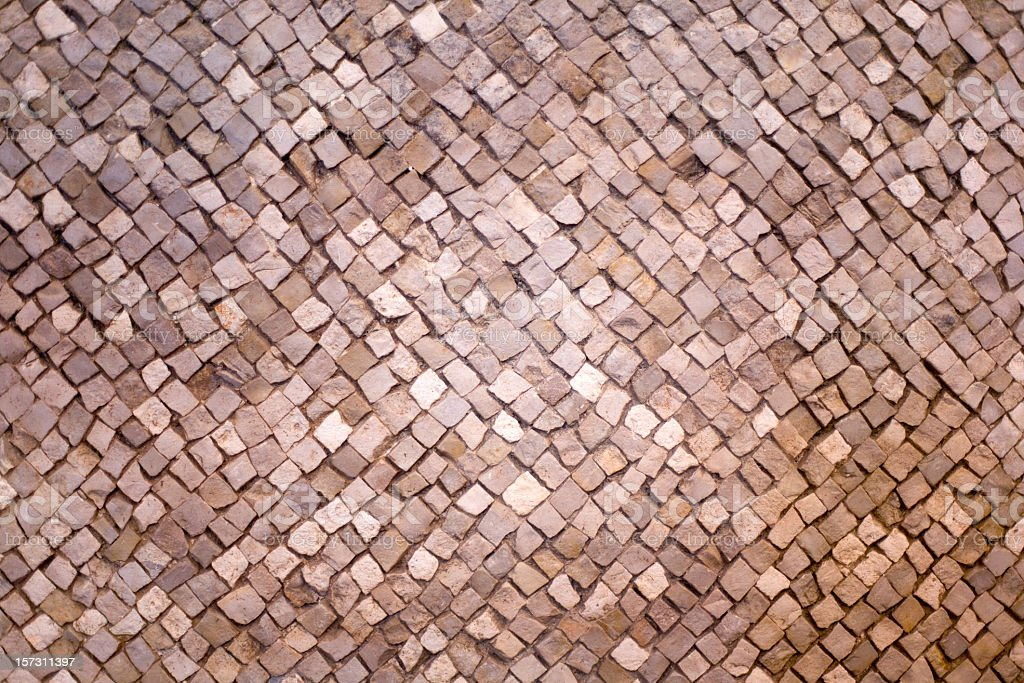 Overview mosaic arrangement of tiles royalty-free stock photo