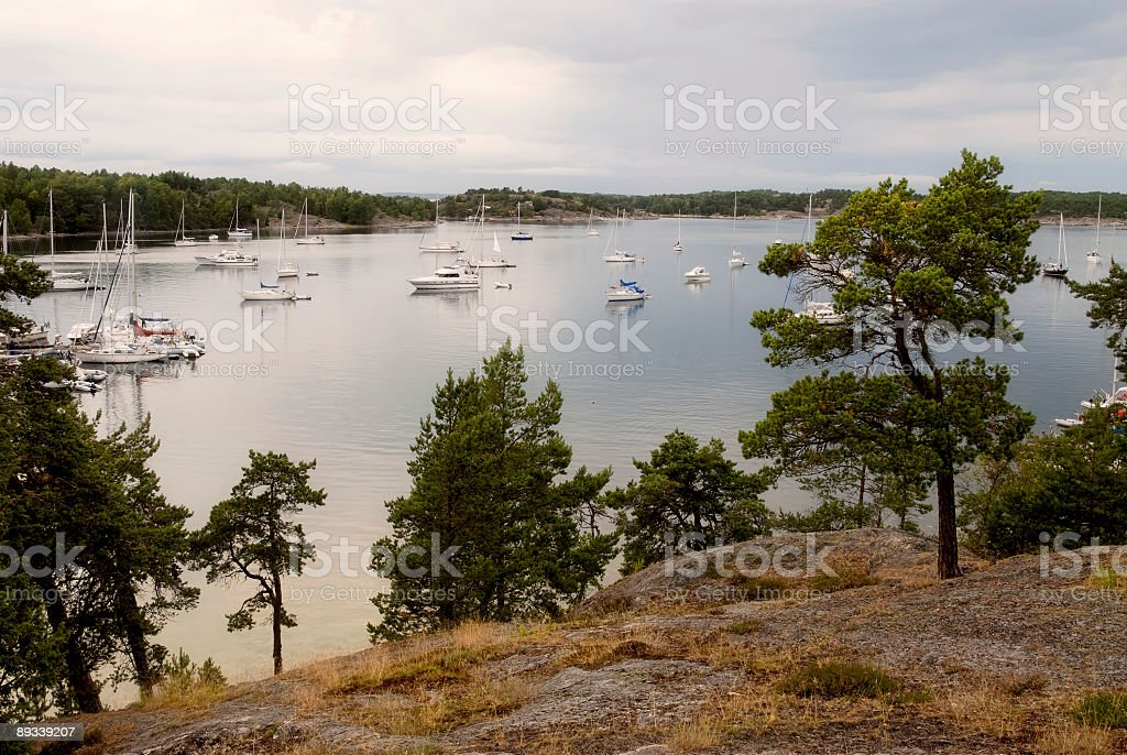 Overview Nåttarö bay royalty-free stock photo