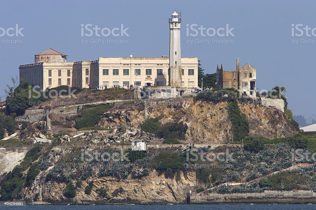 Overview of Alcatraz Prison Museum stock photo